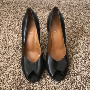 Bally Black Leather Pumps